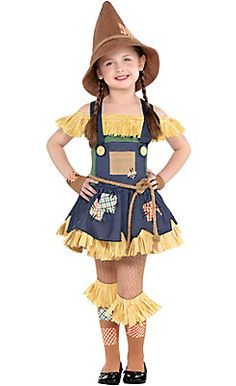 Little Girls Scarecrow Costume - The Wizard of Oz