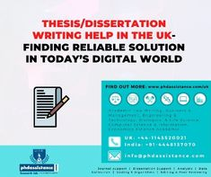 Thesi Dissertation Writing Help In The Uk Finding Reliable Solution Digital World Phdassistance And Analysis