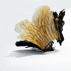 Portfolio   Tsimpiskaki Maria Corrosion-Corruption - Bracelet II. Sterling silver, double gold plated, PVC, 22K gold foil, pigment.