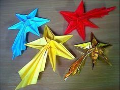 ほうき星の折り方 Comet - YouTube