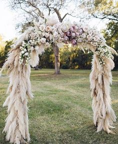 "6,921 Likes, 165 Comments - Grace Loves Lace (@grace_loves_lace) on Instagram: ""Love in full bloom! We love the softness of this pampas grass archway. #graceloveslace…"""