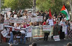 Published 08.06.10   1st year: 1,000 rally in Sheikh Jarrah  Arab, Jewish, and International activists mark first anniversary of protests against evacuation of Palestinian families from east Jerusalem neighborhood in favor of Jews. Rallies held in Tel Aviv, Nazareth, Haifa as well  (Photo: Gil Yohanan)
