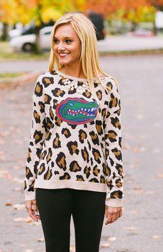 University of Florida Gators Leopard Print Sweater