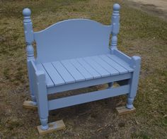 Blue Bed Bench by Kudzu's DH photo bedbenchfinished.jpg