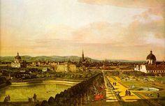 Vienna view from  Belvedere by Bernardo Bellotto (1759-60)