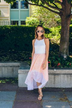 Image Via: The Fox & She in the Peachy Hi Lo Dress #Anthropologie