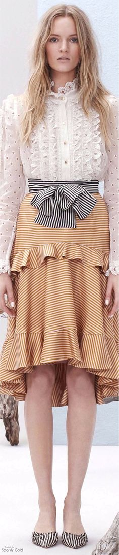 Love this skirt with the stripes going each way... must try a version. Stay tuned to Threadhead TV. ~Zimmermann Resort 2017