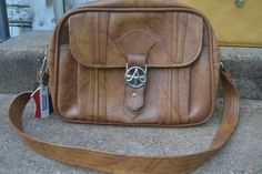 Vintage Caramel Brown American Tourister Carry by amykins1111