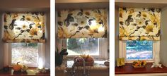 3 Roman blinds made by Susan using Sew-Helpful's How to make a Roman Blind Tutorial, FREE online instructions and advice from a professional workroom,