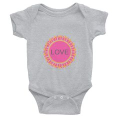 LOVE Pink Infant Bodysuit