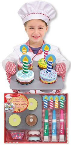 Best Kids Toys + Fun + children + Gift Ideas + Wood Toys + Christmas Gifts = New Toy Section @ Hudson Bay, click through here and receive $25 off purchases over $175. This wooden cupcake set from Melissa & Doug is on for only $29.99.