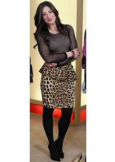 Our Stylist in Chief Stacy in a leopard peplum skirt from Zara on the set of 'What not to Wear.' Book one one of our Stacy-trained stylists today at www.styleforhire.com!