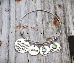 All because two people fell in love.  Alex and Ani Style Bracelet.  Wedding Anniversary Gift.