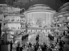 This is one of my favorite movie sets. It is awesomely Art Deco and is from The Gay Divorcee starring Astaire and Rogers.