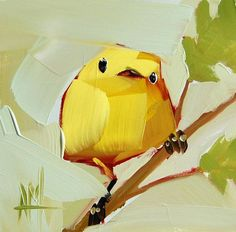 Hey, I found this really awesome Etsy listing at https://www.etsy.com/listing/209709668/yellow-warbler-no-82-original-bird-oil