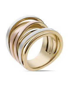 Michael Kors Tri-Tone Intertwined Ring   Bloomingdales