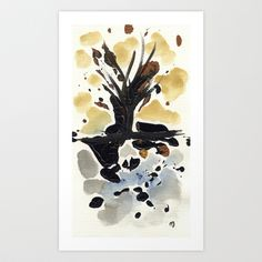 In Limbo - Sepia II Art Print by Marina Kanavaki - $16.22 Gifts For An Artist, Framed Art Prints, Watercolor Paintings, Moose Art, Shop, Water Colors, Watercolour Paintings, Store, Watercolor Painting