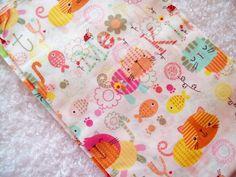 Cat fabric, fat quarter, cotton fabric, fish fabric, infant fabric, childrens fabric, novelty fabric, kitten fabric, ladybugs, animal fabric