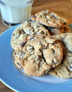 Brown Sugar Chocolate Chunk Cookies... Crisp on the edges and chewy in the center