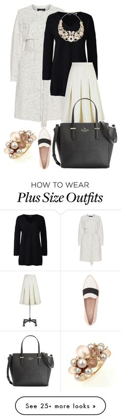 """""""plus size xora"""" by aleger-1 on Polyvore featuring Carmakoma, Lands' End, eShakti, Kate Spade and Mimí"""