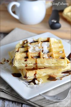 I'm loving these Coconut Waffles - they'd be a great weekend breakfast!