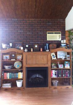 Fireplace in sunroom