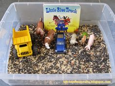 Kitchen Floor Crafts: Quick Pick & Project of the Week: Little Blue Truck Sensory Bin