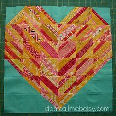 Heart Strings Quilt Block