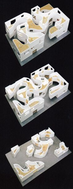Small models showing different floors - Okurayama Apartments (Toyko, Japan) Sanaa Architecture Du Japon, Japanese Architecture, Concept Architecture, Landscape Architecture, Interior Architecture, Futuristic Architecture, Amazing Architecture, Ryue Nishizawa, Arch Model