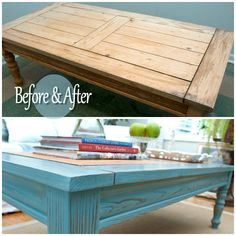 Salvaged Inspirations | milk painted table before