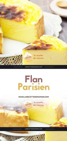 Flan Parisien – La Recette de maman Flan Nature, French Desserts, Healthy Nutrition, Macarons, Nutella, Food Videos, Camembert Cheese, French Toast, Yummy Food