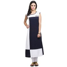 Straight Blue Rayon Printed Casual Kurti For Women By Aik Collections Kurtas and Kurtis For Women on Shimply.com