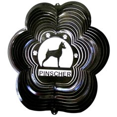 "12"" Pinscher - Black Starlight Wind Spinner. #pinscher"