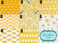 Yellow/white Modern Color Scheme (purchase With Crib Bedding Set Or Nursery…