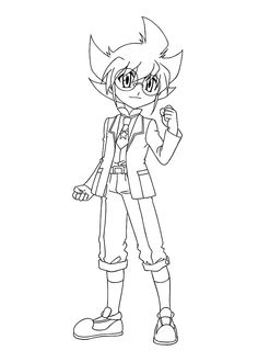 yuki beyblade anime coloring pages for kids printable free - Beyblade Metal Fury Coloring Pages