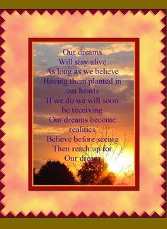 Our Dreams © Copyright Ethel GG Kent