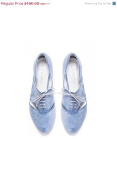 Limited Edition Womens Blue Lace Up CutOut by OliveThomasShoes, $161.50