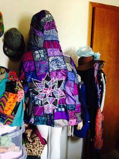 Patchwork mandala coat