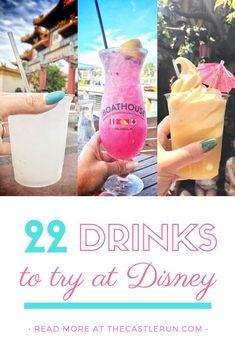 Drink This: The 22 Most Iconic Drinks at Walt Disney World - The Castle Run - Drinking at Disney World - Disney: Drinking Around the World – The Best Disney Alcoholic Drinks for your Walt Disney World V - Disney World Essen, Disney World Food, Disney Worlds, Disney World Outfits, Disney World Vacation Planning, Walt Disney World Vacations, Orlando Vacation, Downtown Disney Orlando, Disney World Florida