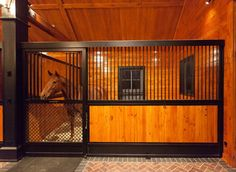 Beautiful barn interior with a great stall set up - Barrington Hills Barn Horse Shed, Horse Stalls, Horse Barns, Barn Stalls, Dream Stables, Dream Barn, Farmhouse Sheds, Horse Barn Designs, Future Farms