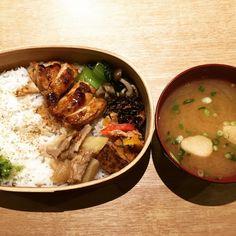 BUNKA HOSTEL TOKYO ブンカホステル東京 Teriyaki Chicken Bento with Miso Soup Very Japanese Style!  Follow us. http://nightlifejp.com www.instagram.com/nightlifejp/ www.pinterest.com/nightlifejp  #日本#東京 #浅草 #japan #tokyo #asakusa  #nightlifejp #nightlife_jp#travel #trip #travelling #instatravel #instatraveling  #photooftheday #follow #yummy  #leisure #japantrip #bunkahostel #hostel #sake #lounge #food #booze #beverage #coffeebreak#breakfast #lunch #dinner #👍