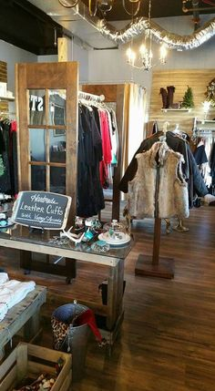 Sweet Treasures Resale new location. Designed & remodeled by Trina & Chris Torres. Rustic Industrial Glam design. Retail design. Boutique, Resale shop.