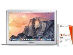 """MacBook Air LED 13,3"""" Apple MJVG2BZ/A Prata - Intel Core i5 4GB 256GB + Pacote Office 365 com as melhores condições você encontra no Magazine Rgenestore. Confira!"""