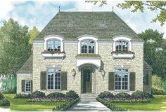 French Country House Plan with 4369 Square Feet and 4 Bedrooms(s ...