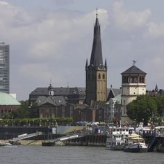 Dusseldorf, Germany, is situated on the Rhine River in northwest Germany.