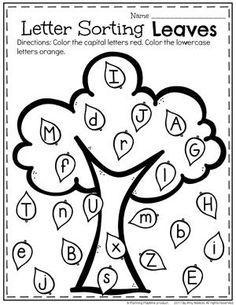 Upper or Lowercase Letter Sort - Alphabet Worksheets for Preschool.