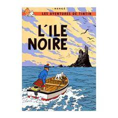 Cuadro La isla Negra Tintín / Moulinsart- Hergé