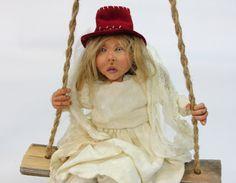 OOAK ANGEL art doll handmadel doll polymer clay by LalkowniaDolls