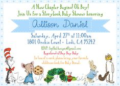 Childrens Book Themed Baby Shower Invitation by jenleonardini, $12.00