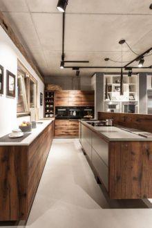 The Kitchen Club - Showroom Alteiche, Betonarbeitsplatte by Functional Kitchen, New Kitchen, Showroom, Nice, Table, Club, Furniture, Home Decor, Fashion